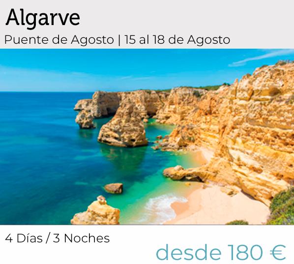 Algarve oferta para grupos. Solo agencia de viajesna